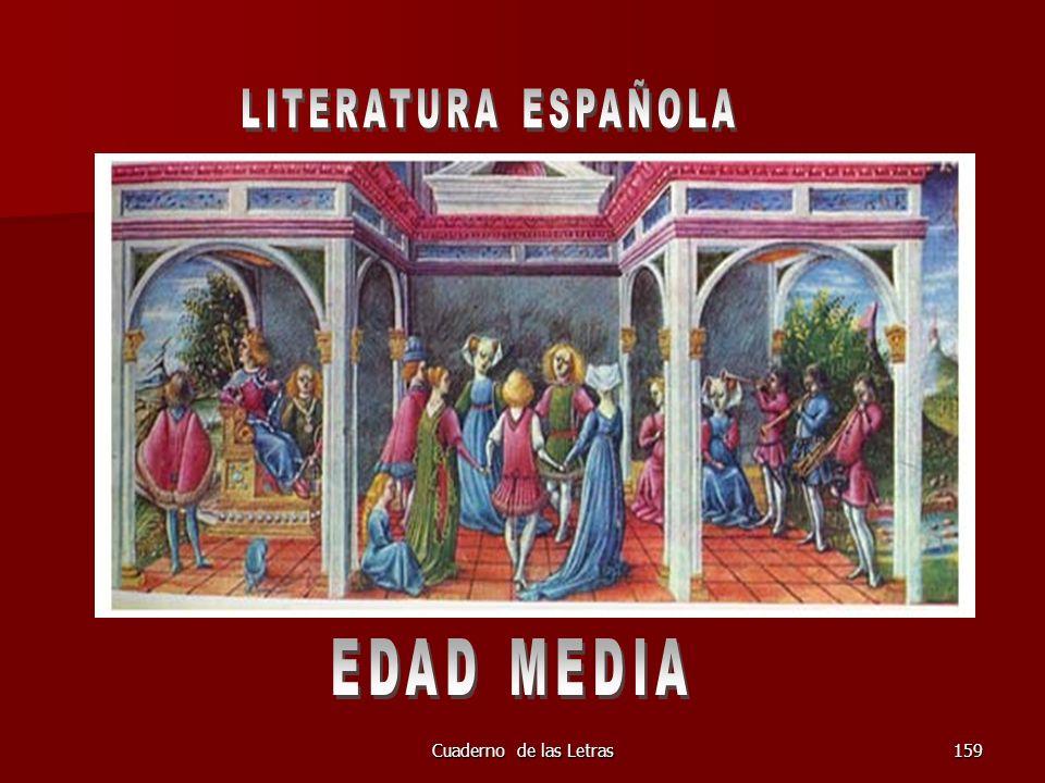 LITERATURA ESPAÑOLA EDAD MEDIA Cuaderno de las Letras