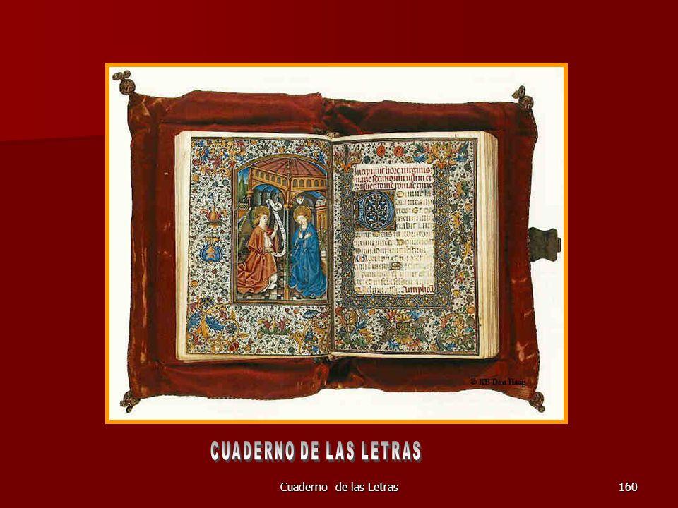 CUADERNO DE LAS LETRAS Cuaderno de las Letras