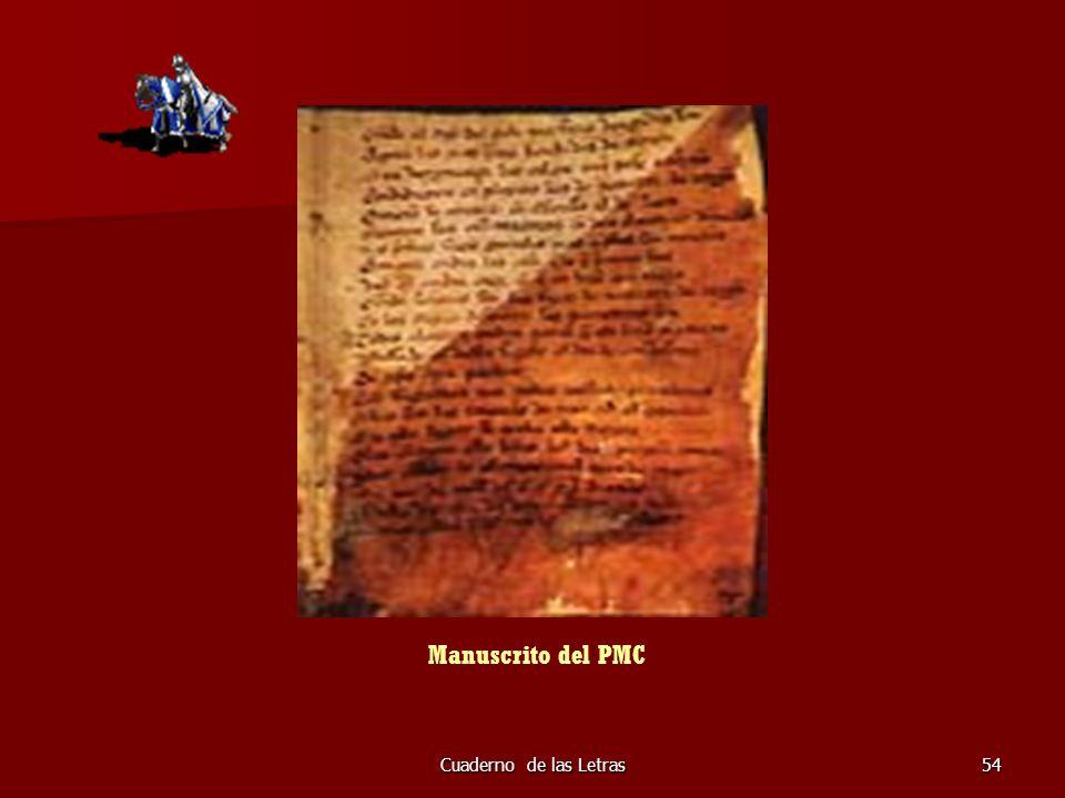 Manuscrito del PMC Cuaderno de las Letras