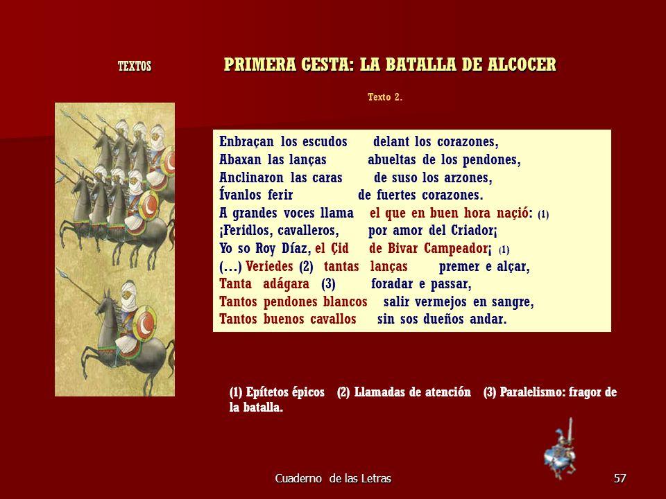 TEXTOS PRIMERA GESTA: LA BATALLA DE ALCOCER