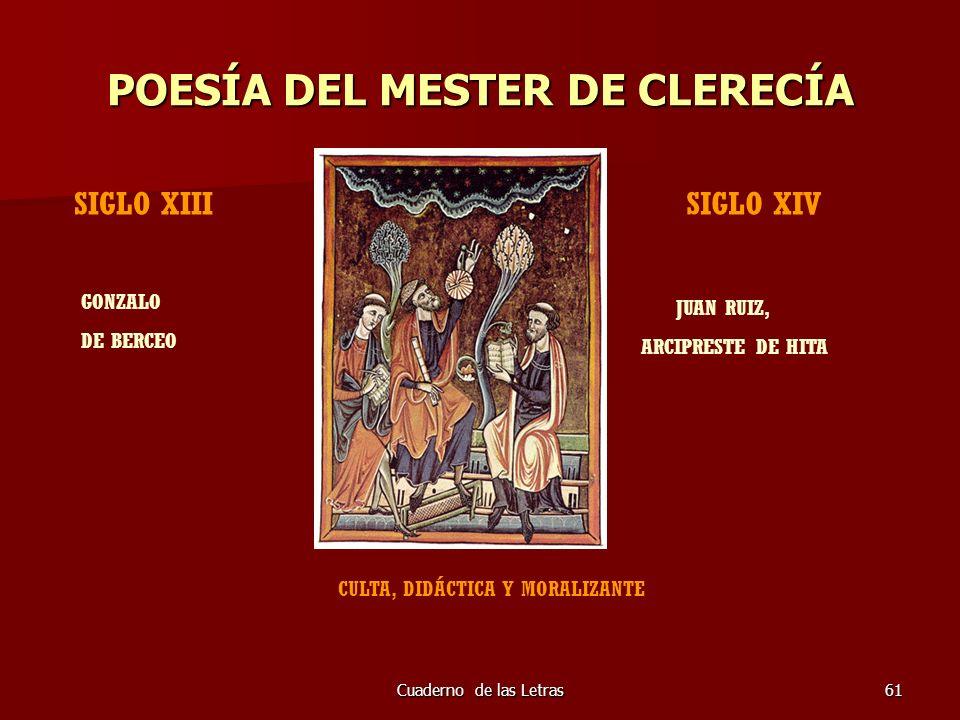 POESÍA DEL MESTER DE CLERECÍA
