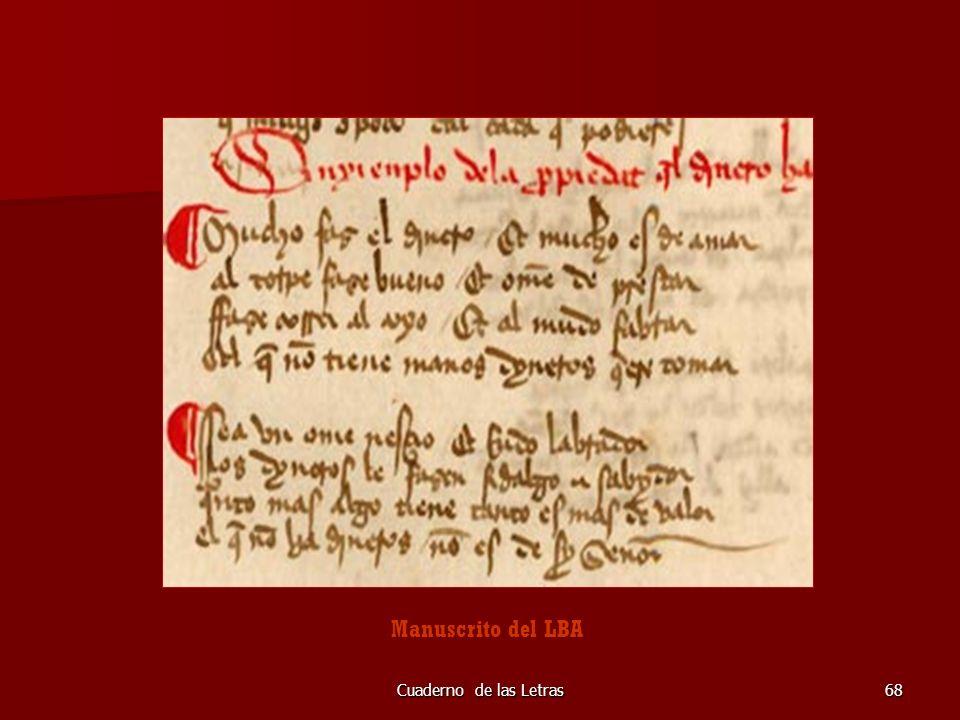 Manuscrito del LBA Cuaderno de las Letras