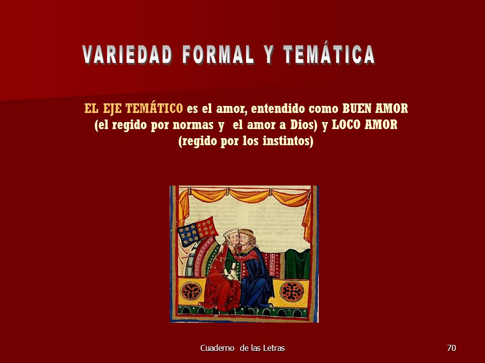 VARIEDAD FORMAL Y TEMÁTICA