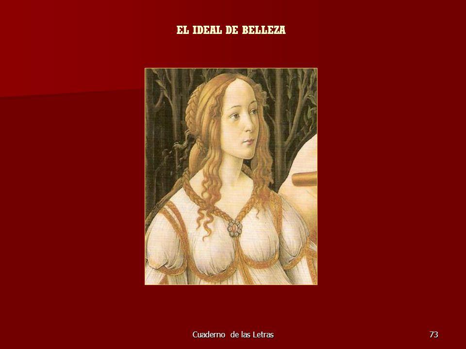 EL IDEAL DE BELLEZA Cuaderno de las Letras