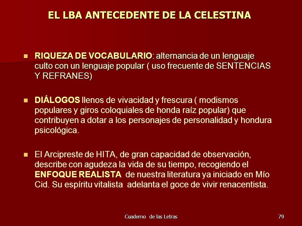 EL LBA ANTECEDENTE DE LA CELESTINA