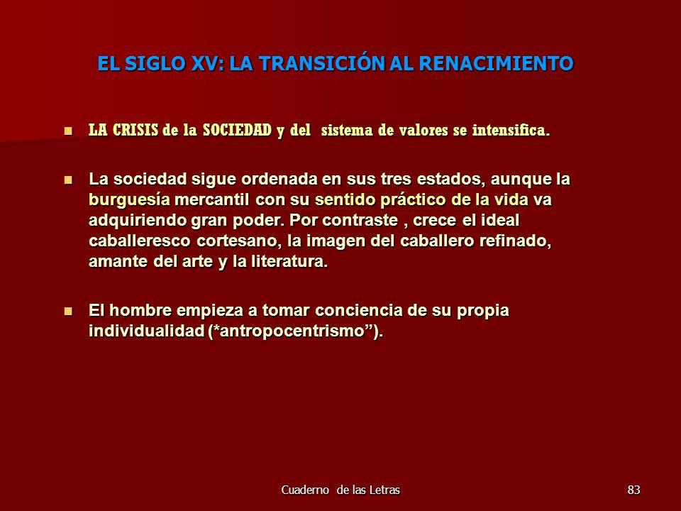 EL SIGLO XV: LA TRANSICIÓN AL RENACIMIENTO