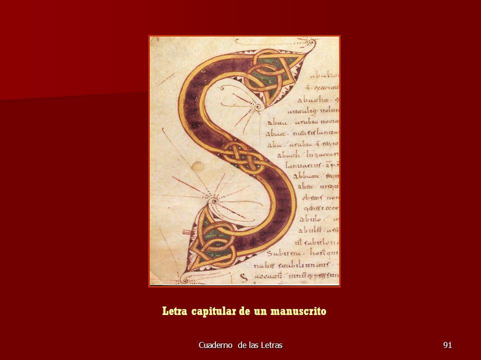 Letra capitular de un manuscrito
