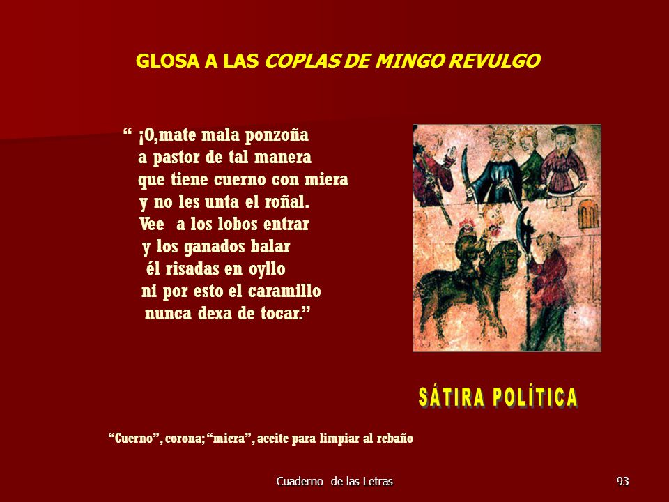 GLOSA A LAS COPLAS DE MINGO REVULGO