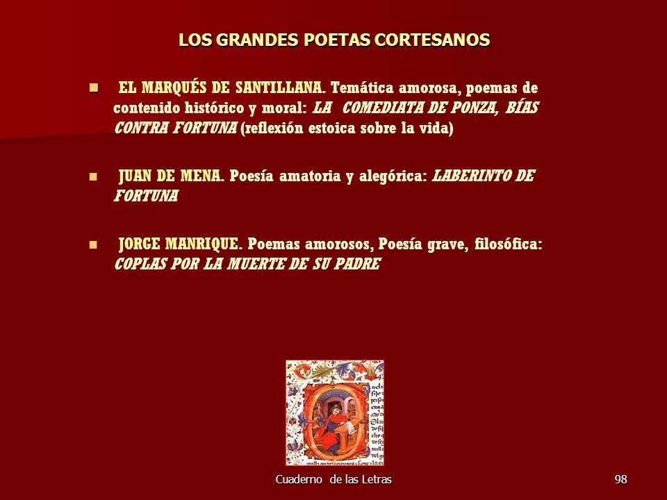 LOS GRANDES POETAS CORTESANOS