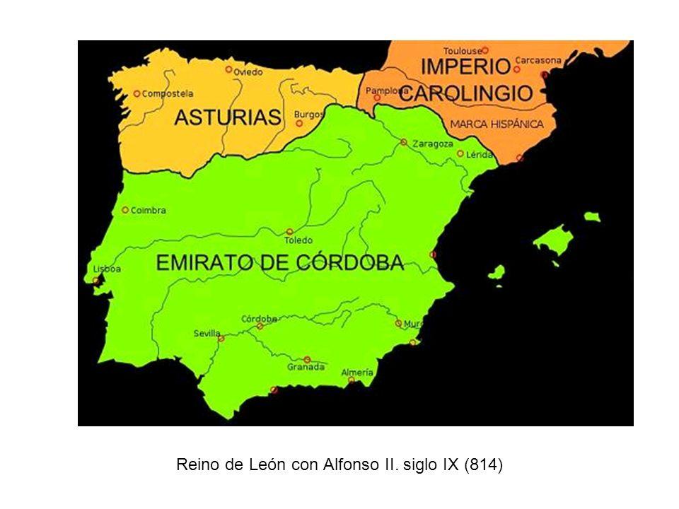 Reino de León con Alfonso II. siglo IX (814)