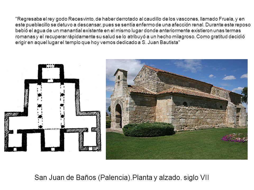 San Juan de Baños (Palencia).Planta y alzado. siglo VII