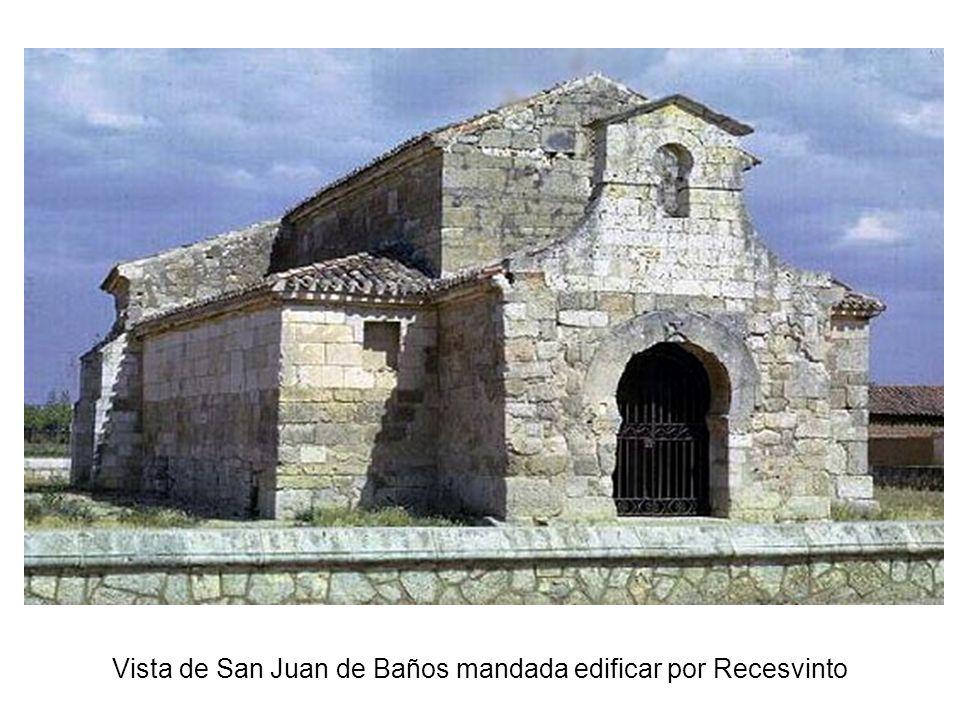Vista de San Juan de Baños mandada edificar por Recesvinto