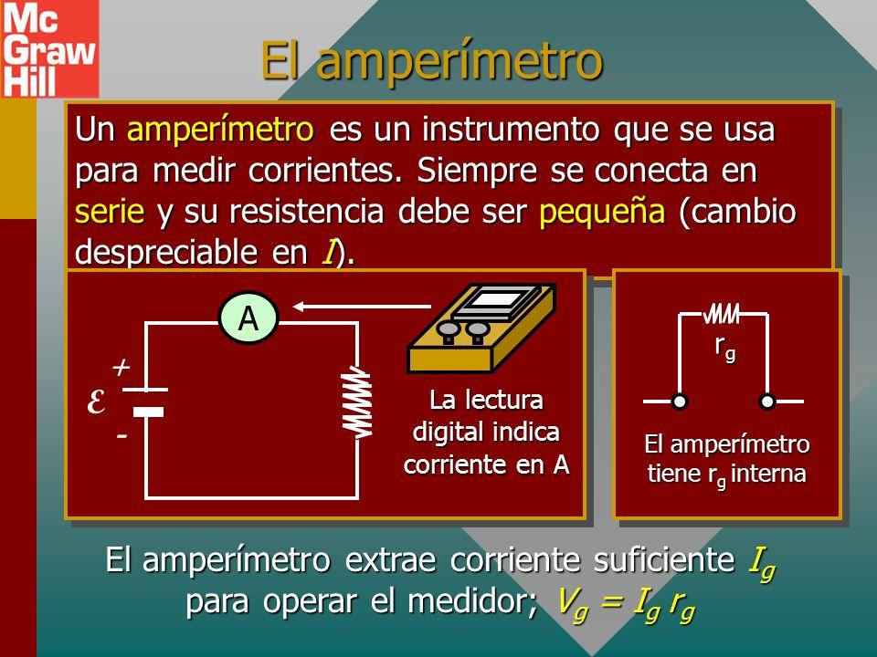 El amperímetro