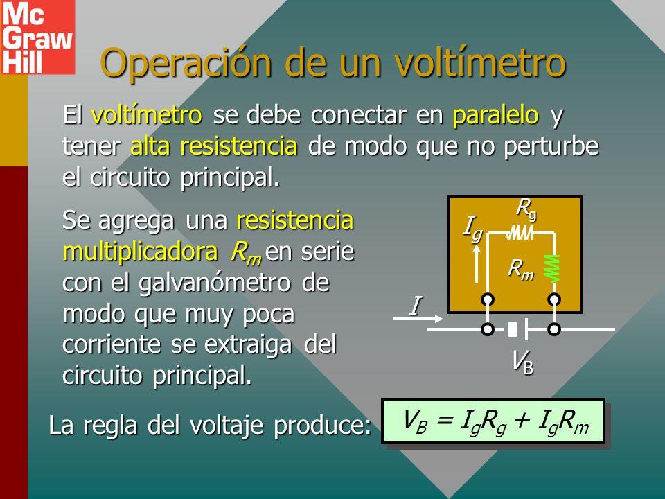Operación de un voltímetro