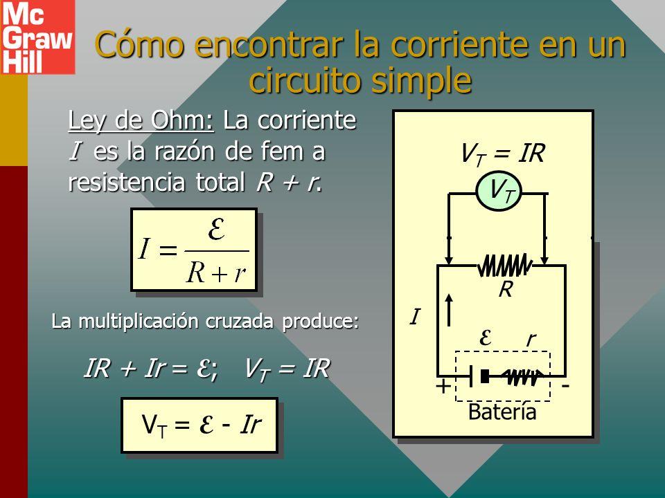 Cómo encontrar la corriente en un circuito simple