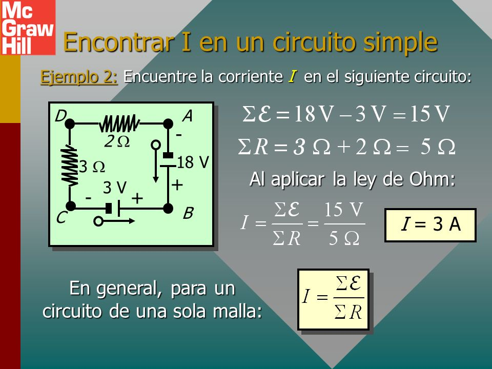 Encontrar I en un circuito simple