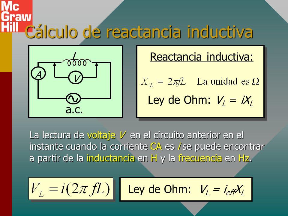 Cálculo de reactancia inductiva