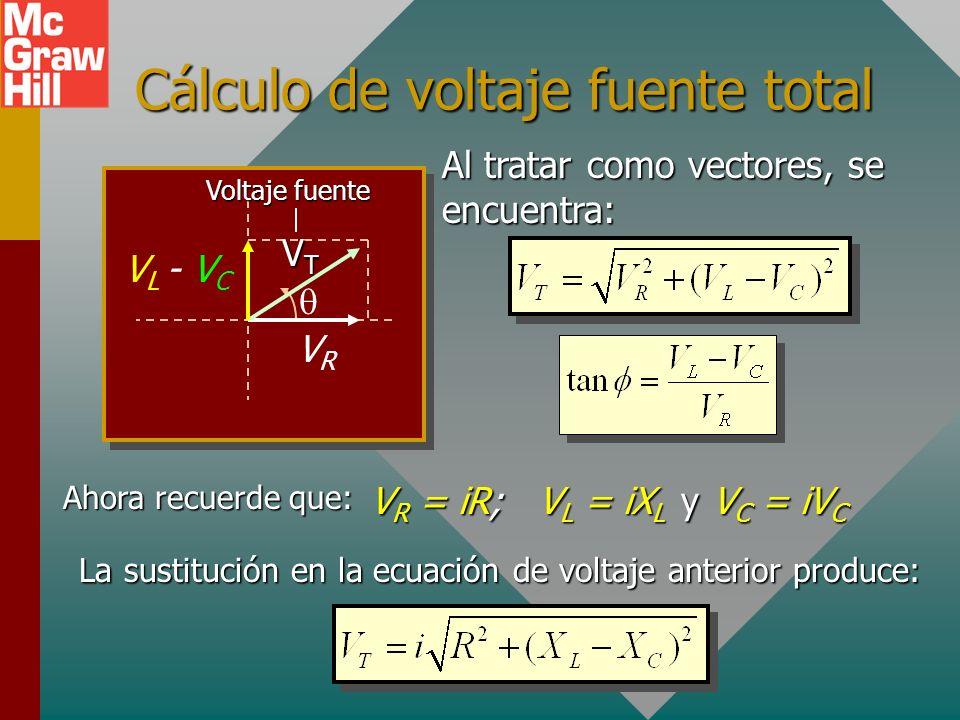 Cálculo de voltaje fuente total