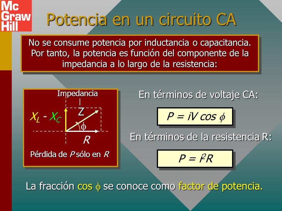 Potencia en un circuito CA
