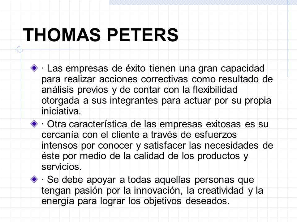 THOMAS PETERS