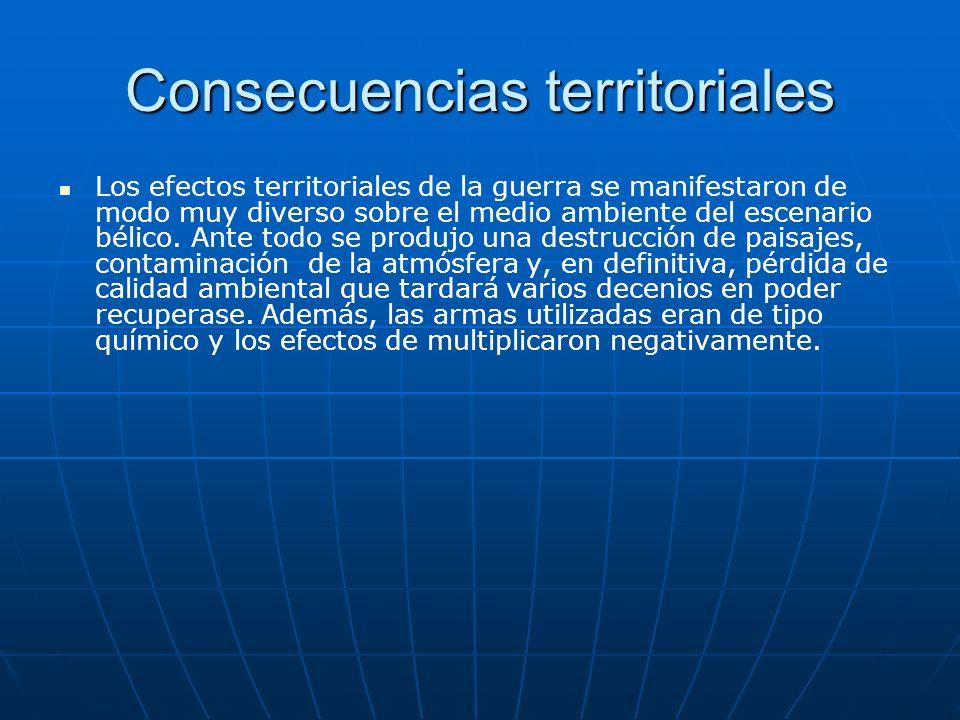 Consecuencias territoriales