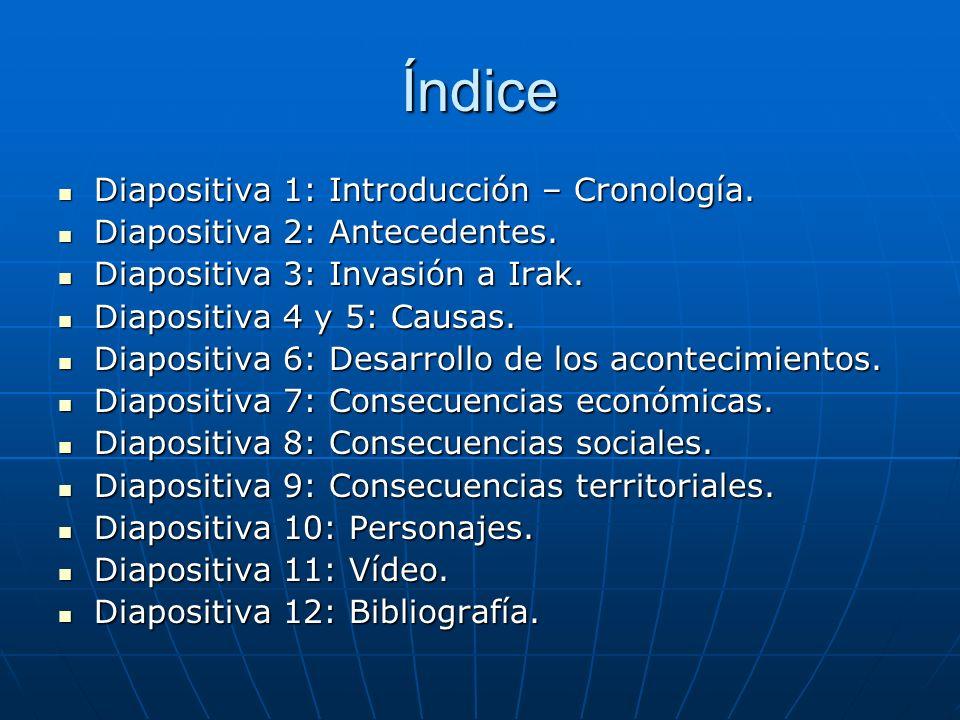 Índice Diapositiva 1: Introducción – Cronología.