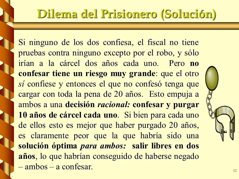 Dilema del Prisionero (Solución)