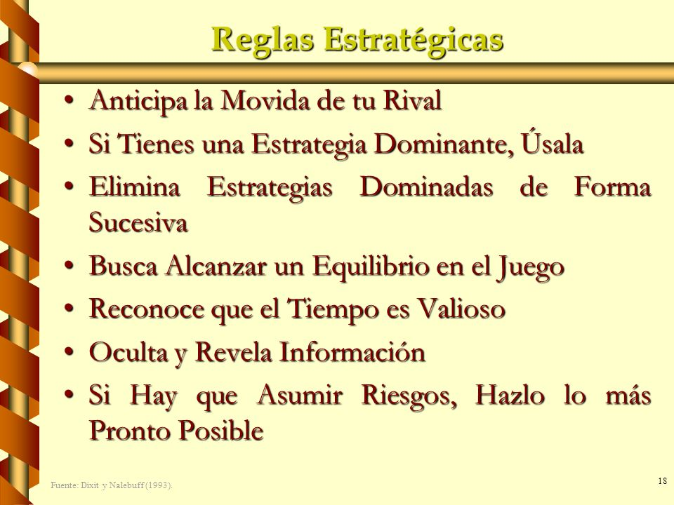 Reglas Estratégicas Anticipa la Movida de tu Rival
