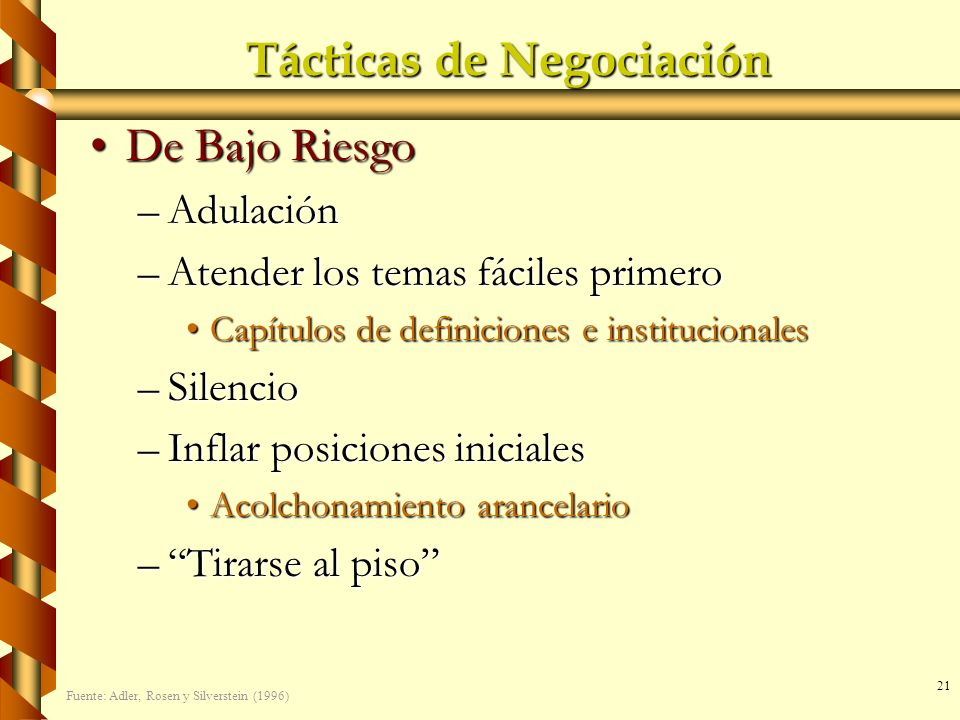 Tácticas de Negociación