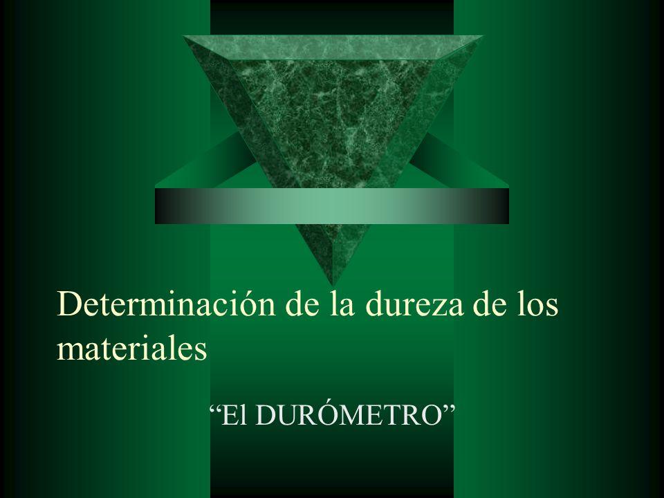 Determinación de la dureza de los materiales