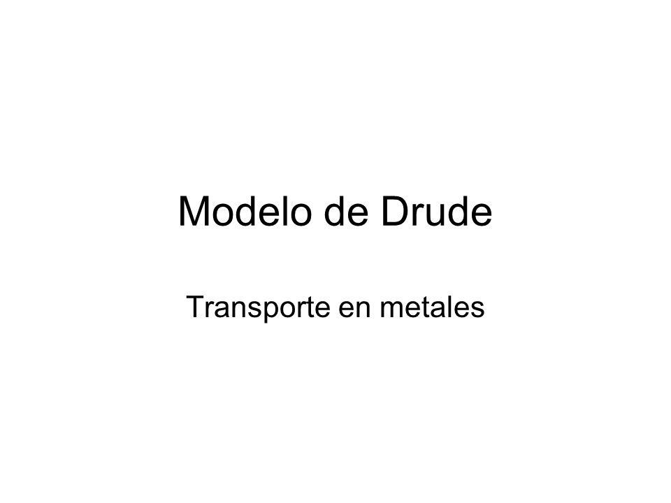 Modelo de Drude Transporte en metales
