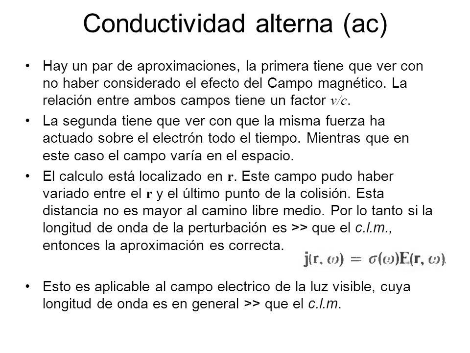 Conductividad alterna (ac)