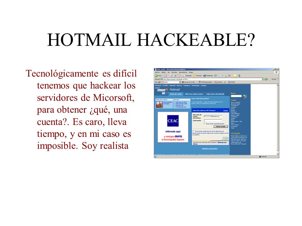 HOTMAIL HACKEABLE