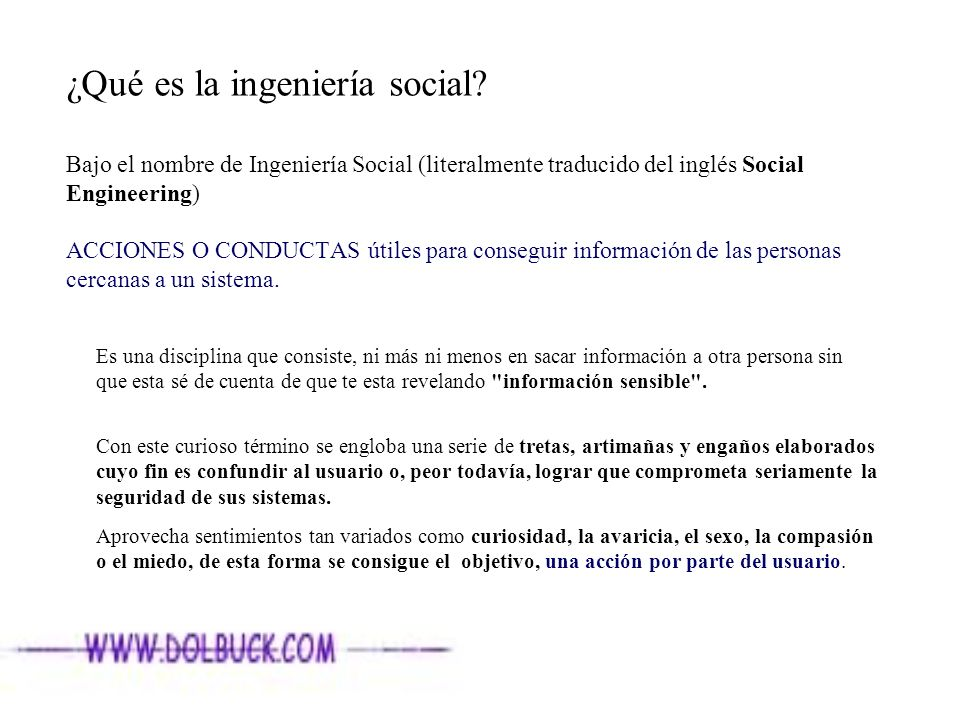 ¿Qué es la ingeniería social