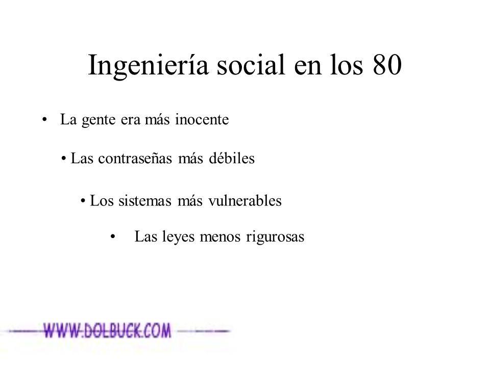 Ingeniería social en los 80