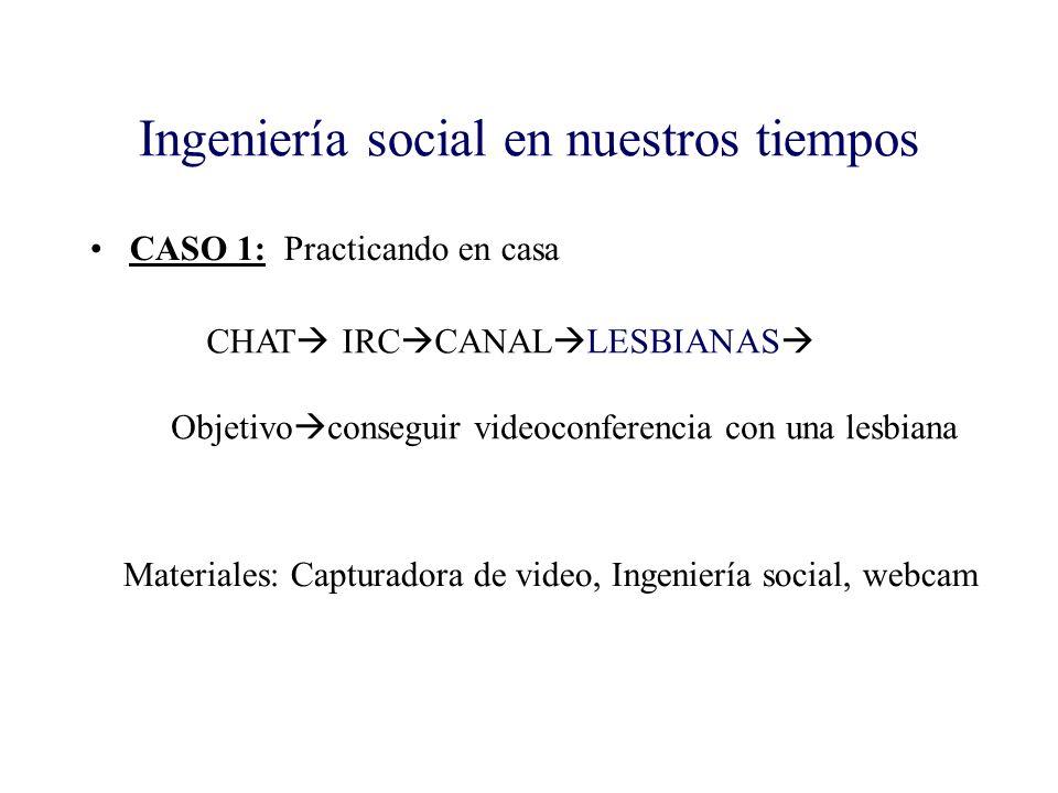 Ingeniería social en nuestros tiempos