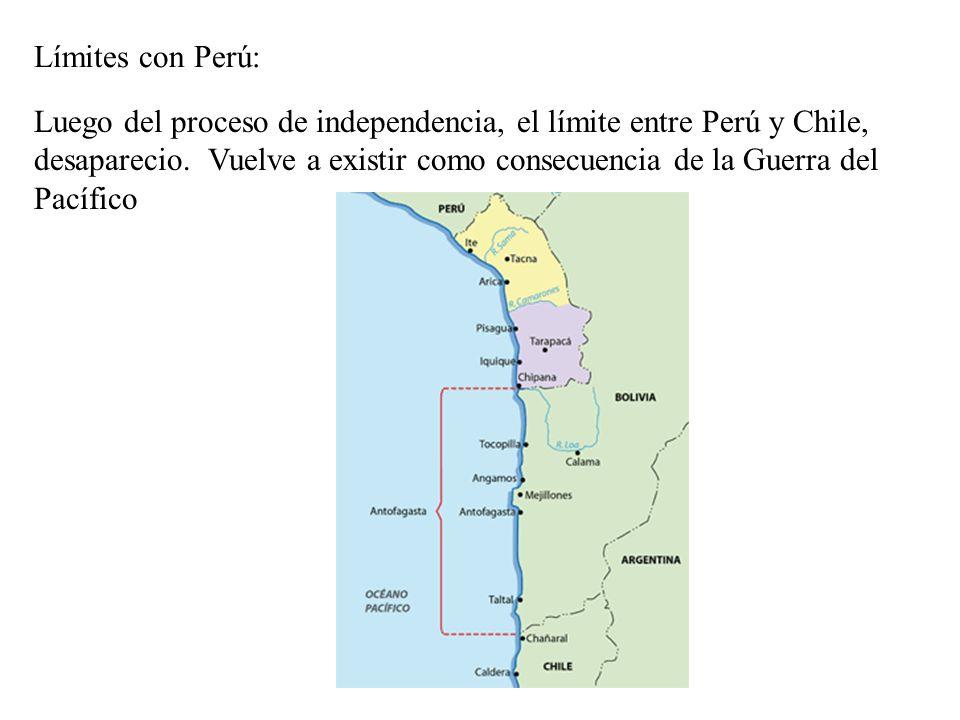 Límites con Perú: