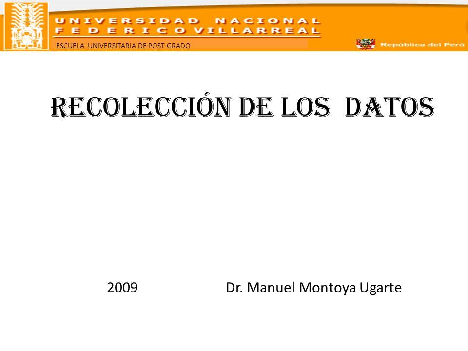 RECOLECCIÓN DE LOS DATOS