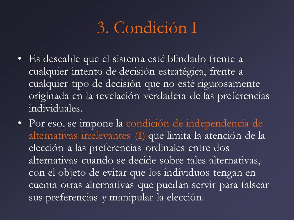 3. Condición I
