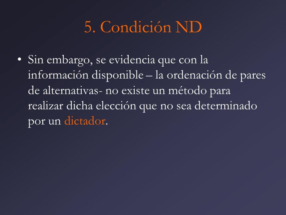 5. Condición ND