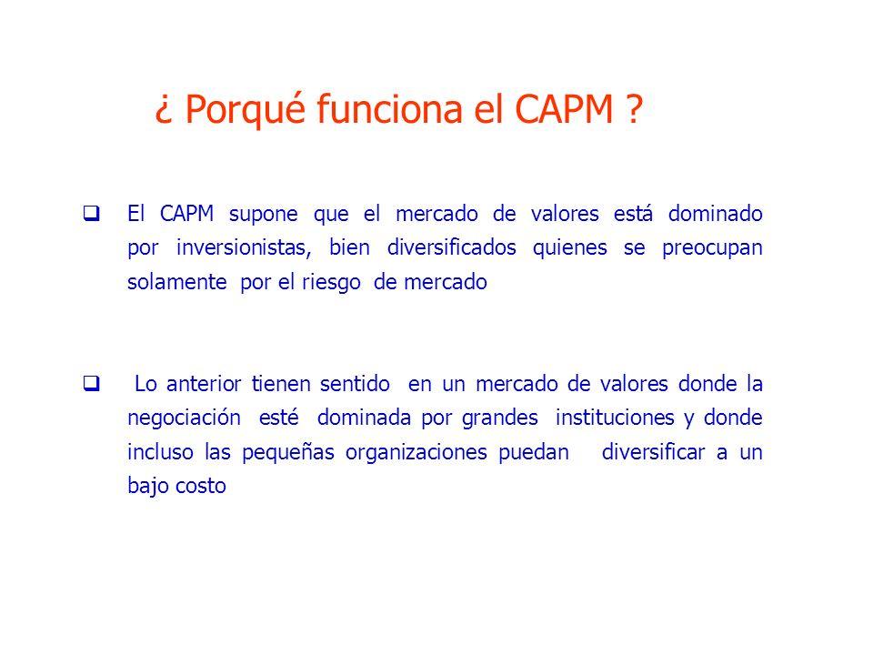 ¿ Porqué funciona el CAPM
