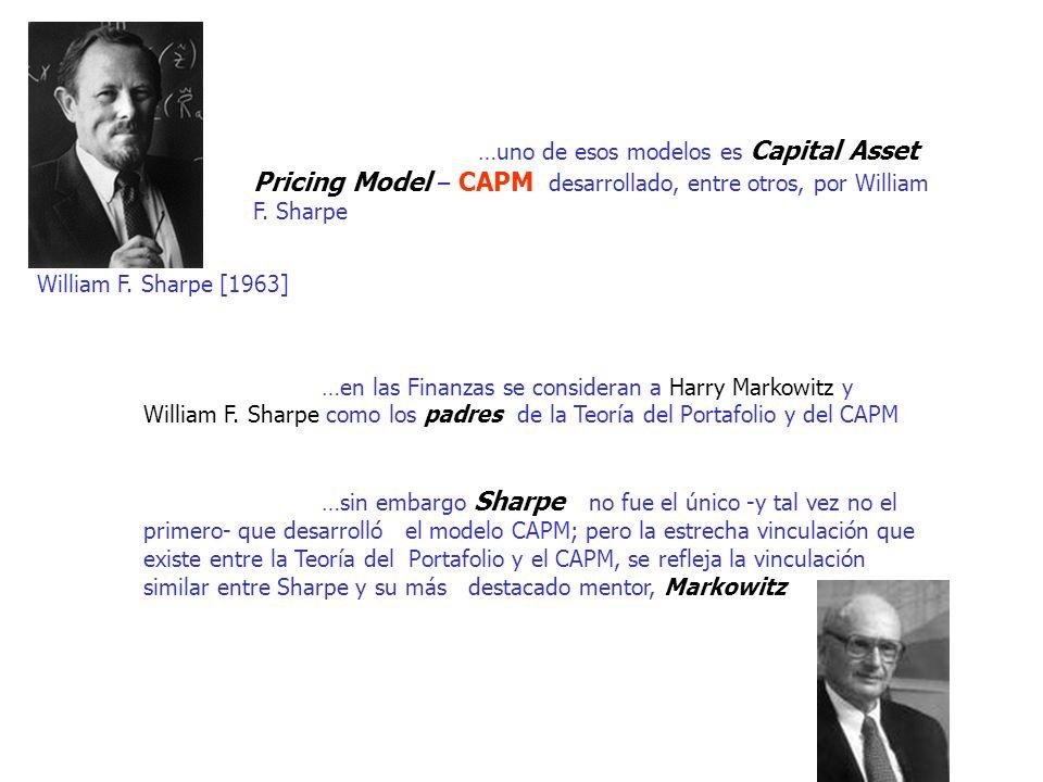 …uno de esos modelos es Capital Asset Pricing Model – CAPM desarrollado, entre otros, por William F. Sharpe