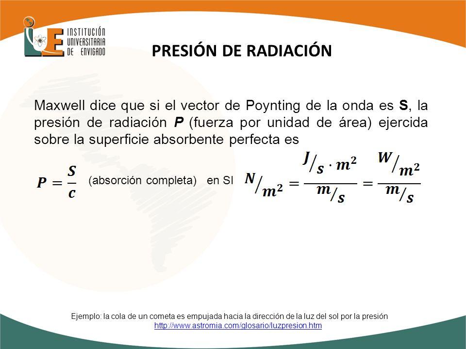 PRESIÓN DE RADIACIÓN