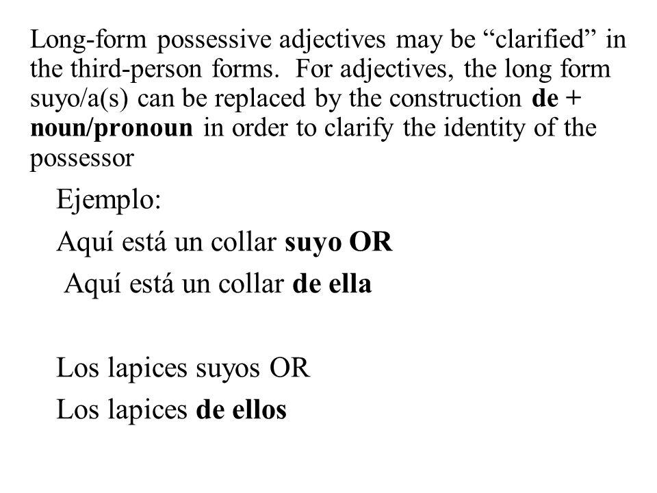 Long-Form Possessive Adjectives - ppt descargar