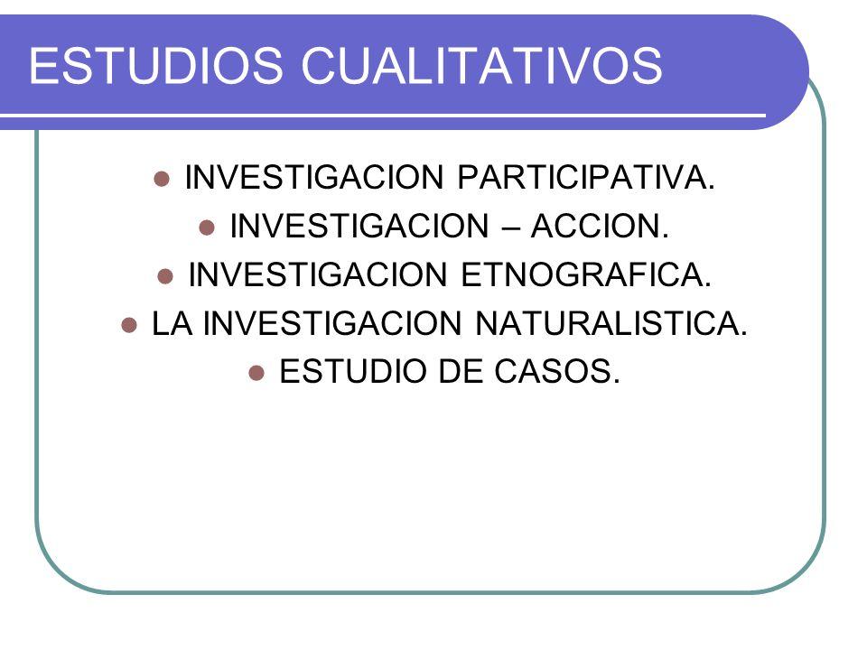 ESTUDIOS CUALITATIVOS