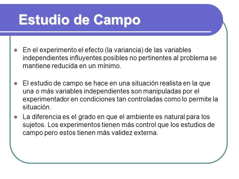 Estudio de Campo