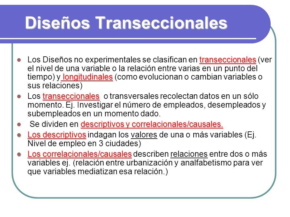 Diseños Transeccionales