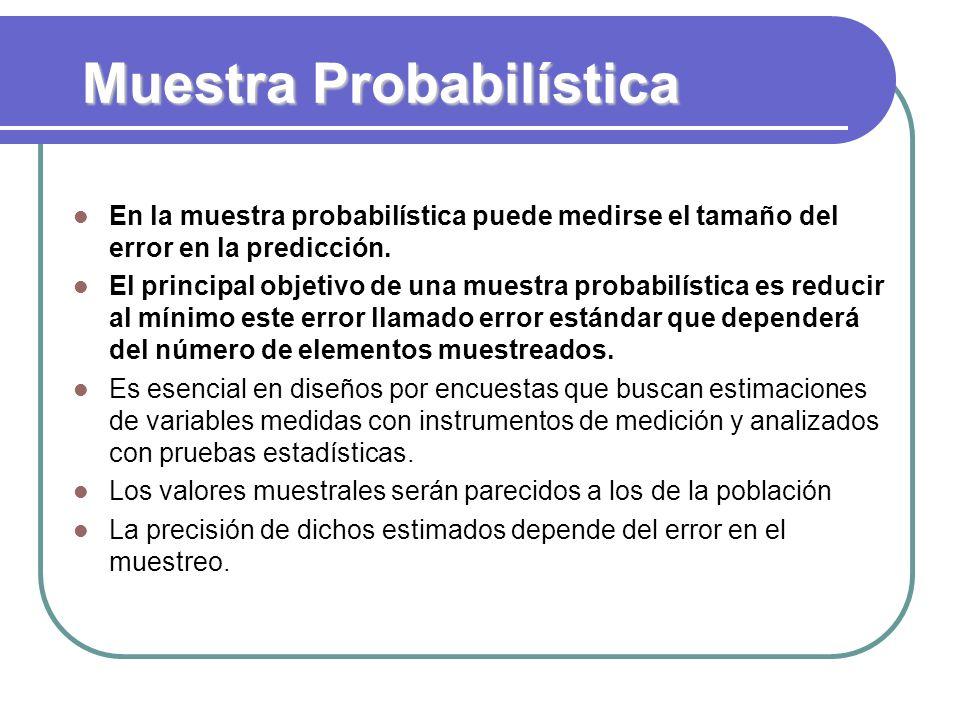 Muestra Probabilística