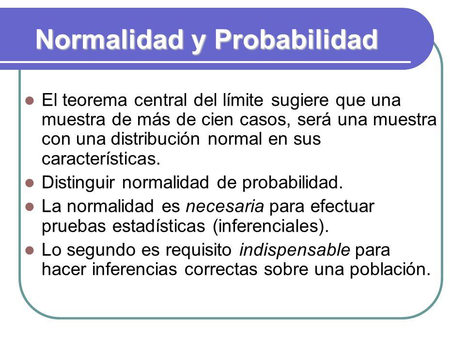 Normalidad y Probabilidad