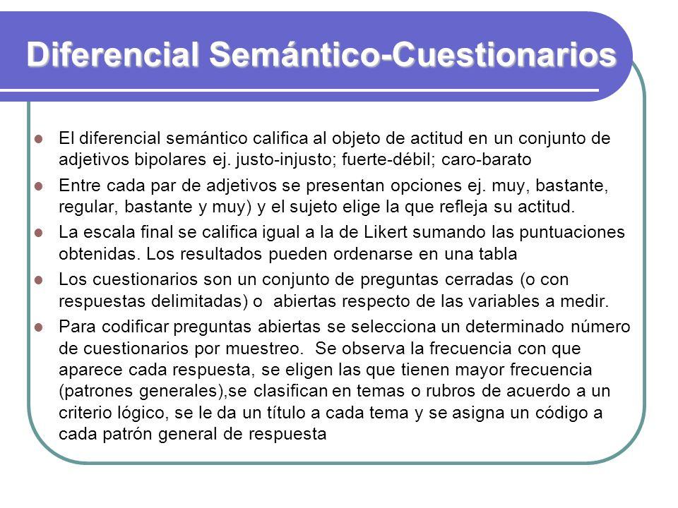 Diferencial Semántico-Cuestionarios